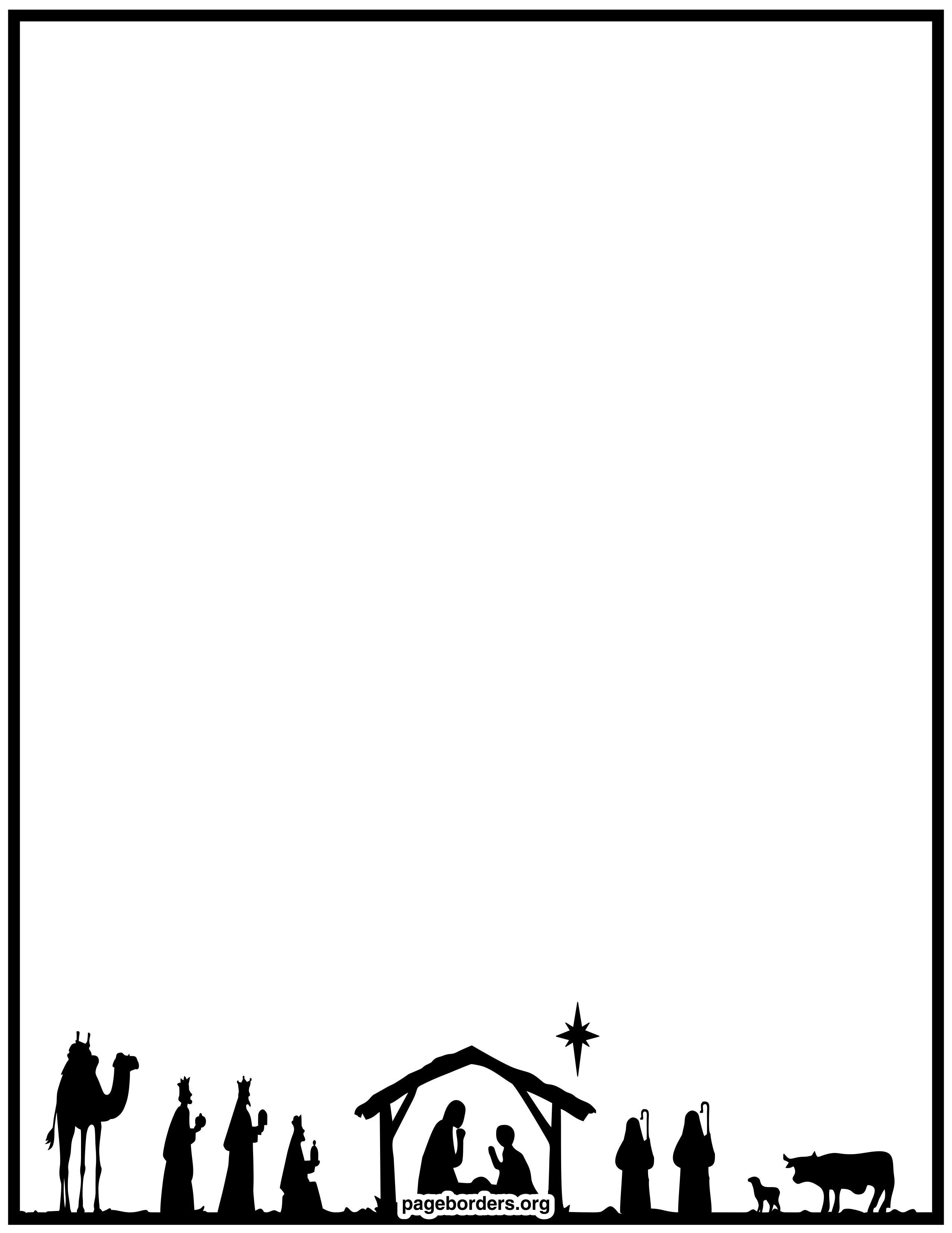 holiday borders clip art page borders and vector graphics nativity border templates including printable border paper and clip art versions file formats include gif jpg pdf and png