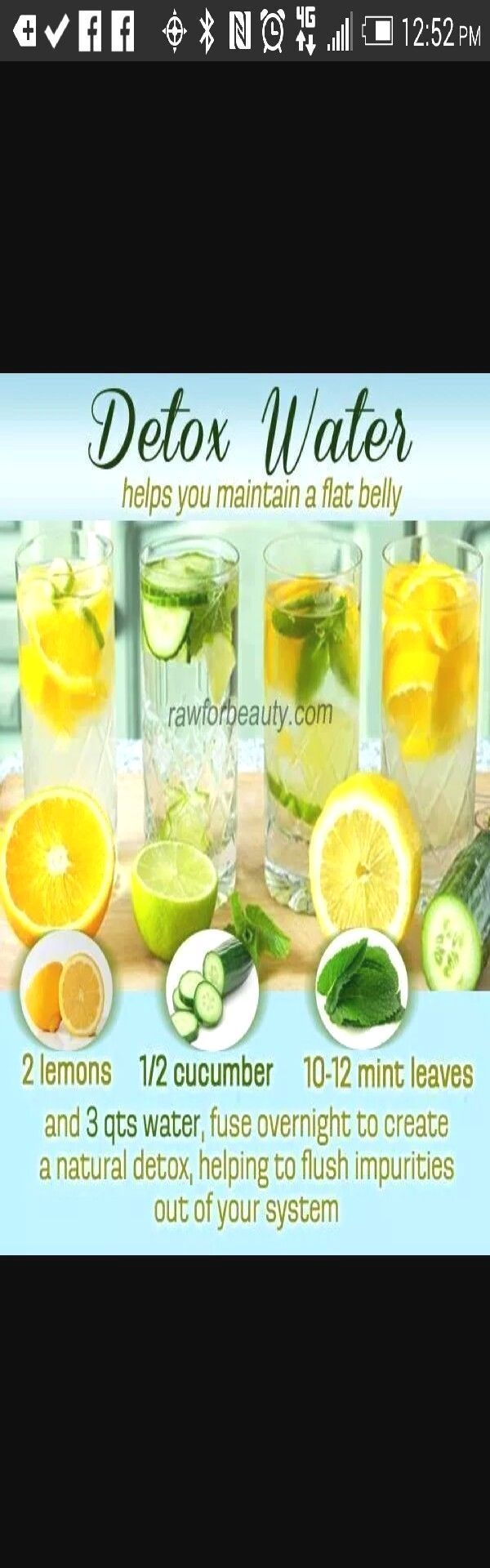 ????detox water recipe helps maintain a flat belly???? #Health #Fitness #Trusper...  - Fitness - #Be...