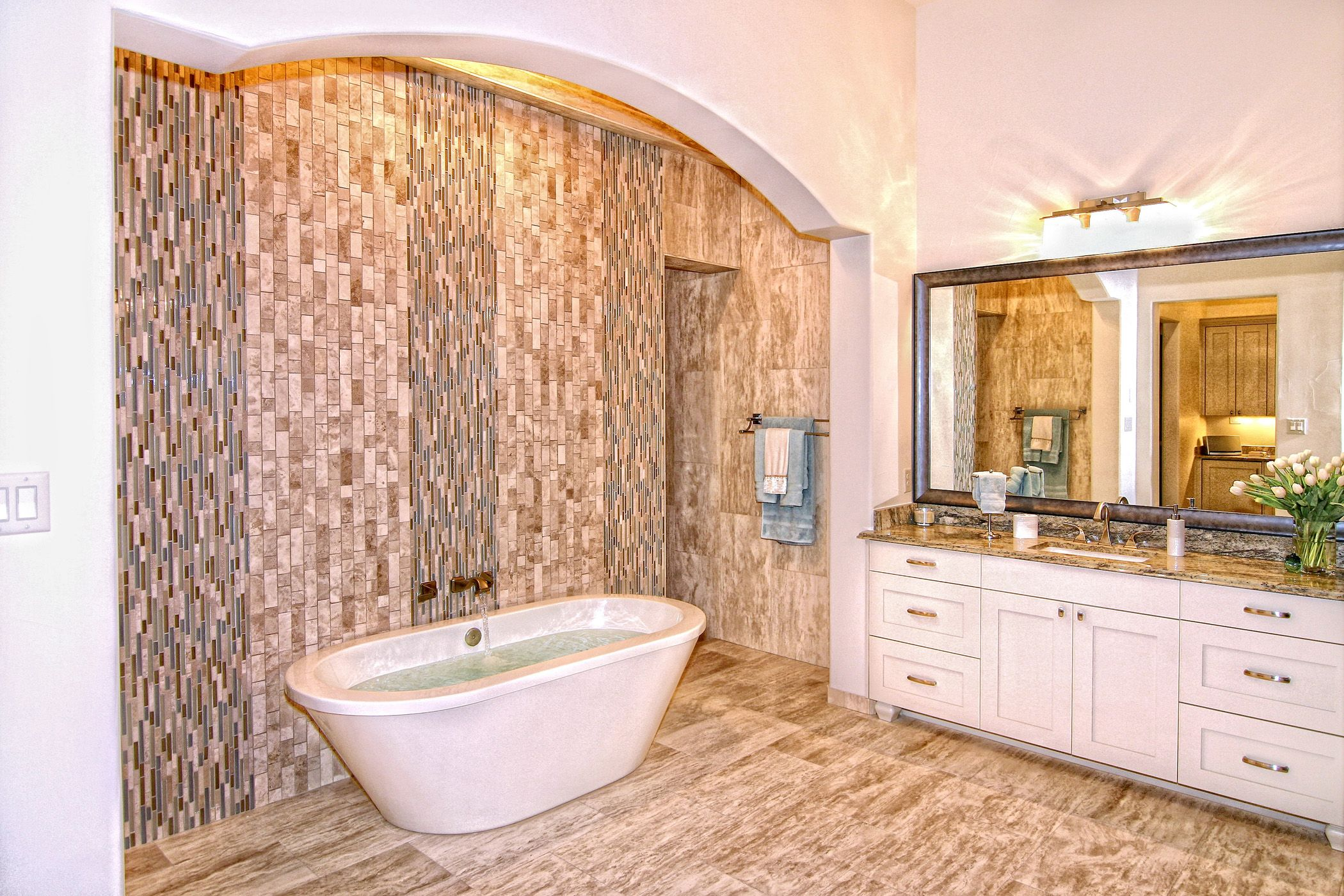 Luxury Modern Master Bathrooms hill country modern master bathzbranek & holt custom homes