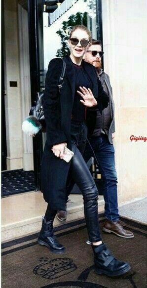 April 5 Gigi leaving her hotel in paris