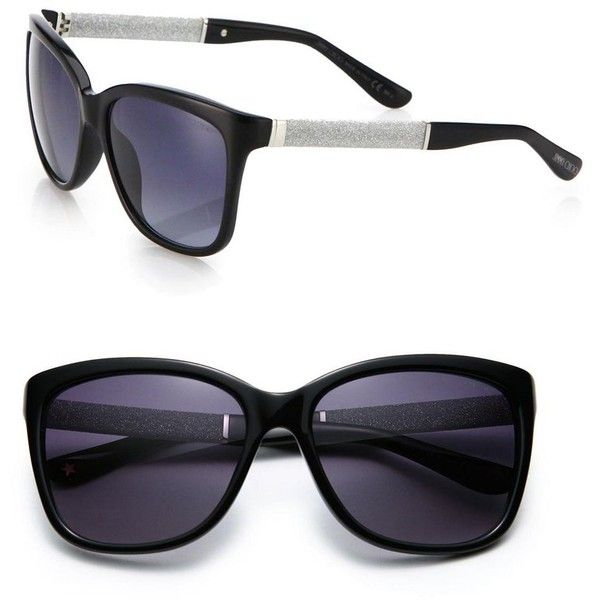 72ea135d618 Jimmy Choo Cora 56MM Square Sunglasses (425 BAM) ❤ liked on Polyvore  featuring accessories