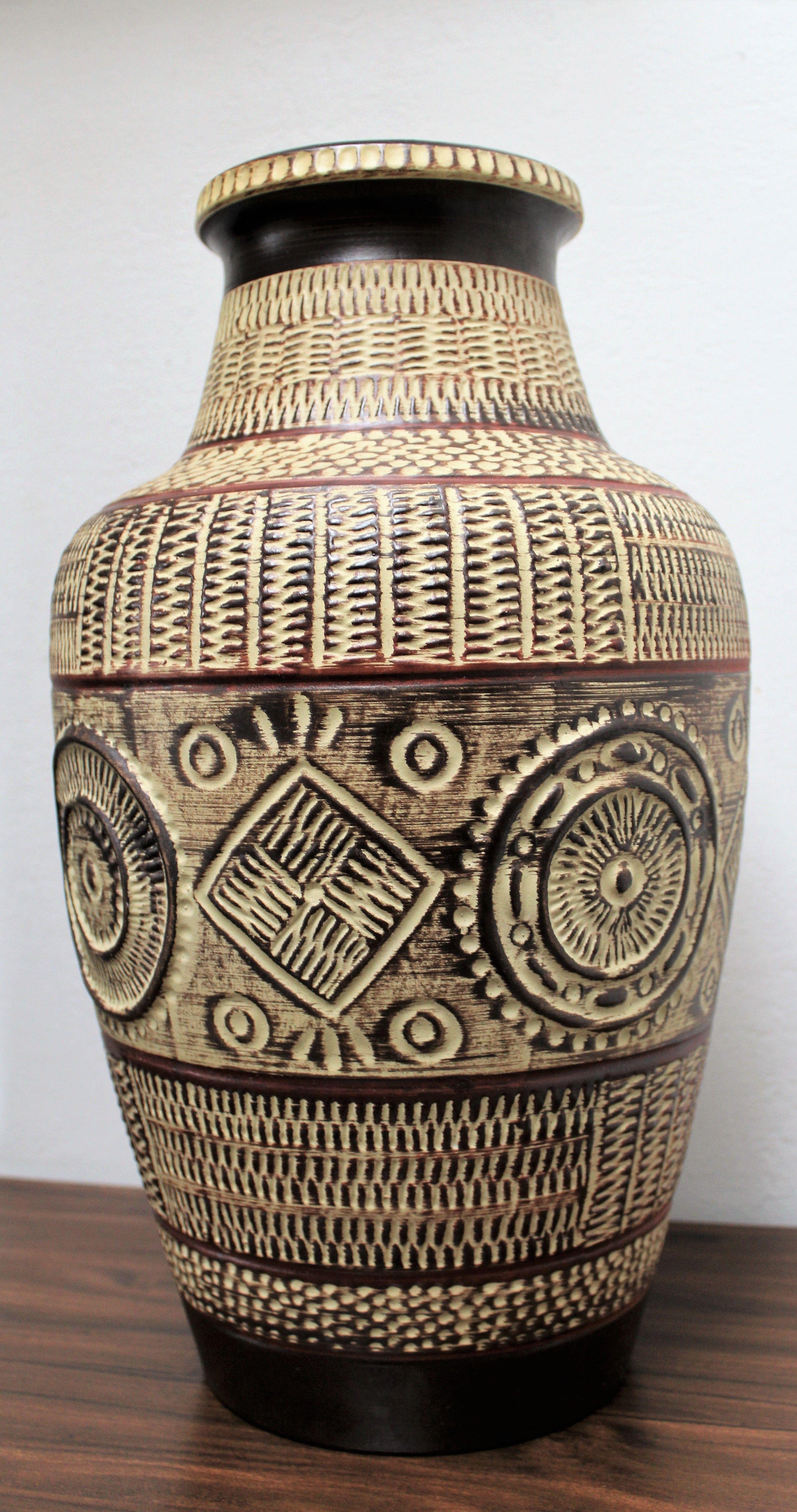 Vintage bay keramik floor vase model 550 45 matte glaze with ethic vintage bay keramik floor vase model 550 45 matte glaze with ethic dcor west reviewsmspy