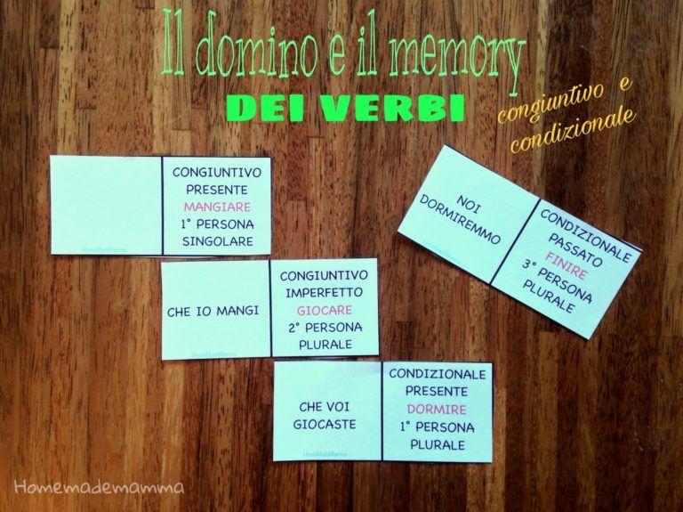 Il domino e il memory dei verbi congiuntivo e