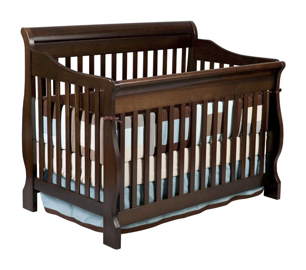 Convertible Crib Sleigh Nursery Furniture Baby Bed Shower Gift Beautiful Bedding Baby Cribs Convertible Best Baby Cribs Convertible Crib Espresso