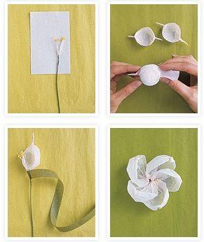 Flor de papel crepe.