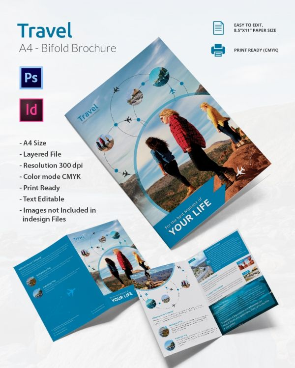 Amazing Travel A4 Bi Fold Brochure
