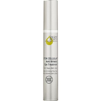A proprietary blend of fruit stem cells and vitamin C infused into certified organic, antioxidant-rich juices works to create a smoother, firmer appearance and improve elasticity, while reducing the appearance of dark circles and fine lines around the eyes for lasting, advanced age defy results. Juice Beauty's STEM CELLULAR Anti-Wrinkle Eye Treatment is designed for all skin types and especially beneficial for skin showing the signs of aging including fine lines, wrinkles and sun damage.