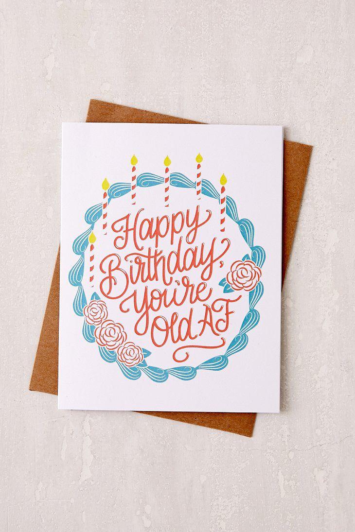 Lionheart Prints Old AF Birthday Card