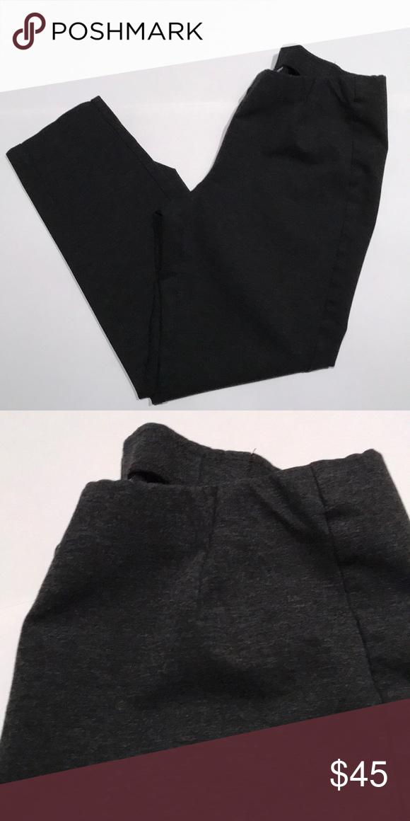 e8f563e65f2b28 J Jill Ponte Knit Leggings Center front seams Hidden elasticized waist Back  darts 70% viscose rayon, 24% nylon, and 6% spandex knit Charcoal color J.  Jill ...
