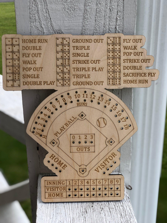 Baseball Dice Game Baseball Game Board In 2021 Board Games Diy Board Games Homemade Board Games