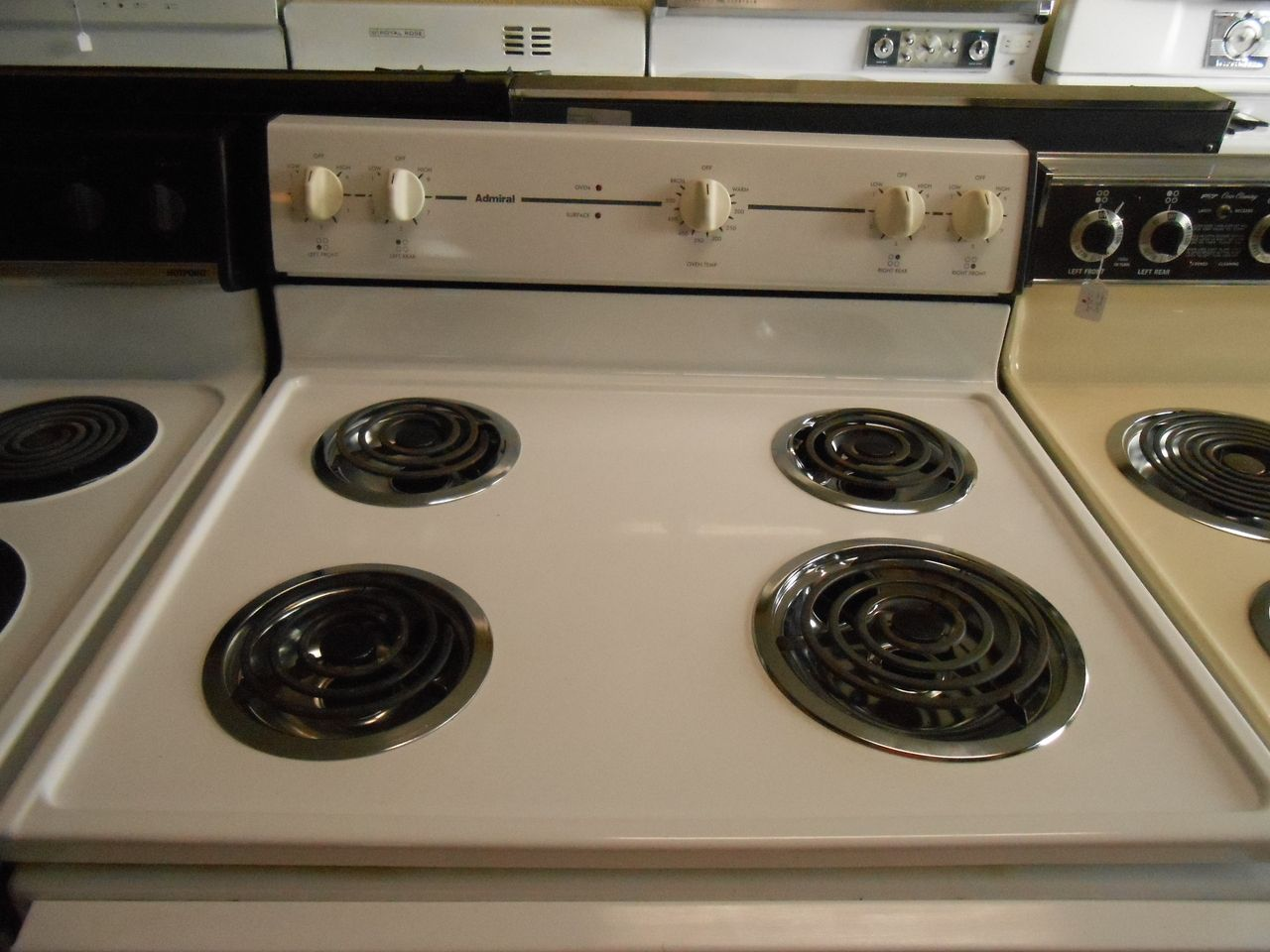 Appliance City Admiral Electric Range Coil Burners Small And