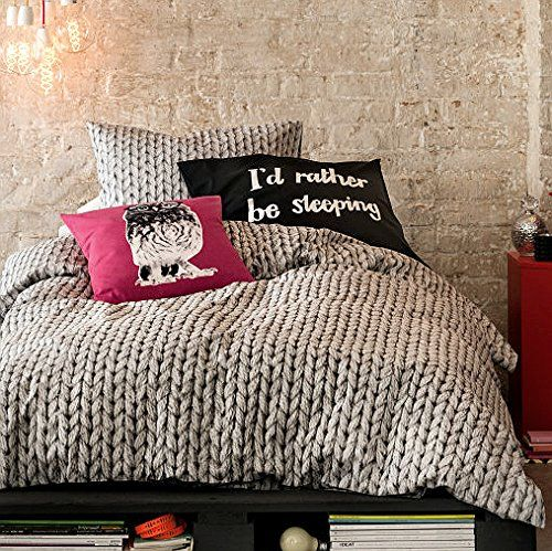 Cable Knit Pattern Cotton Bedding Duvet Quilt Cover Modern Knitted Print In Gray 3pc Set French Style Bed Duvet Cover Pattern Duvet Bedding