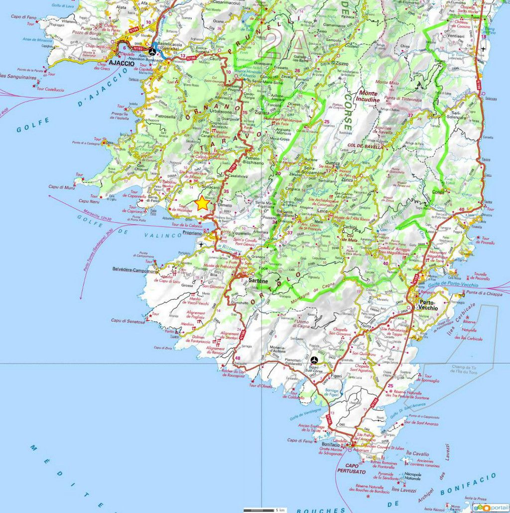 Bon Plan En Corse Du Sud Carte Cyclo Randonnee Voyage Vacances Visiter