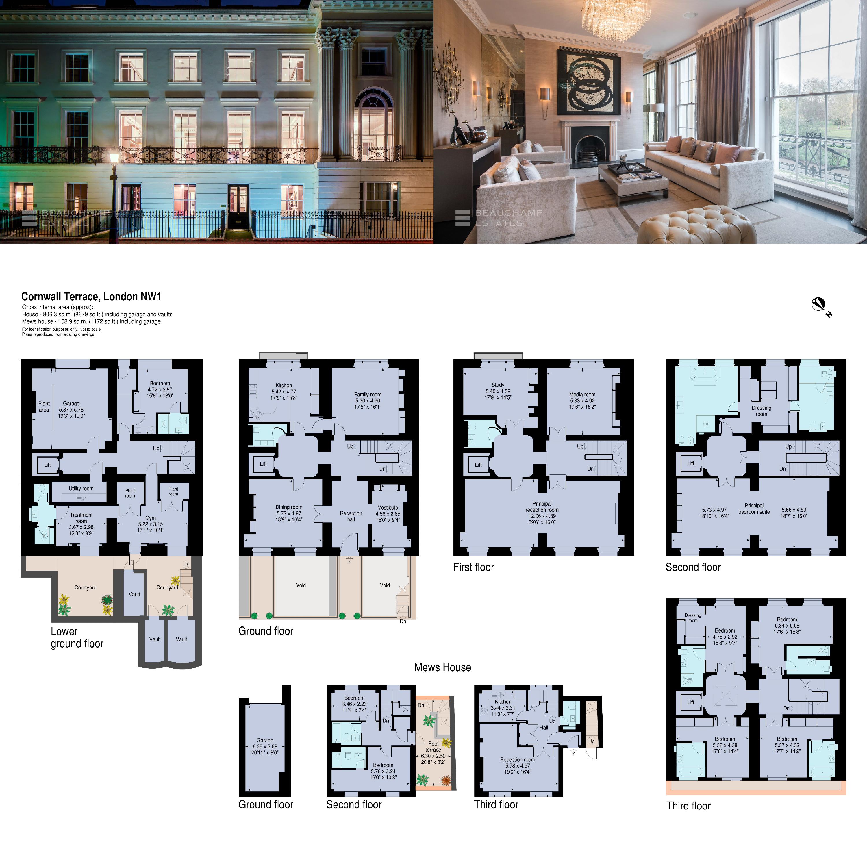 Cornwall Terrace Nw1 London Maison Maison A Vendre Maison De Ville