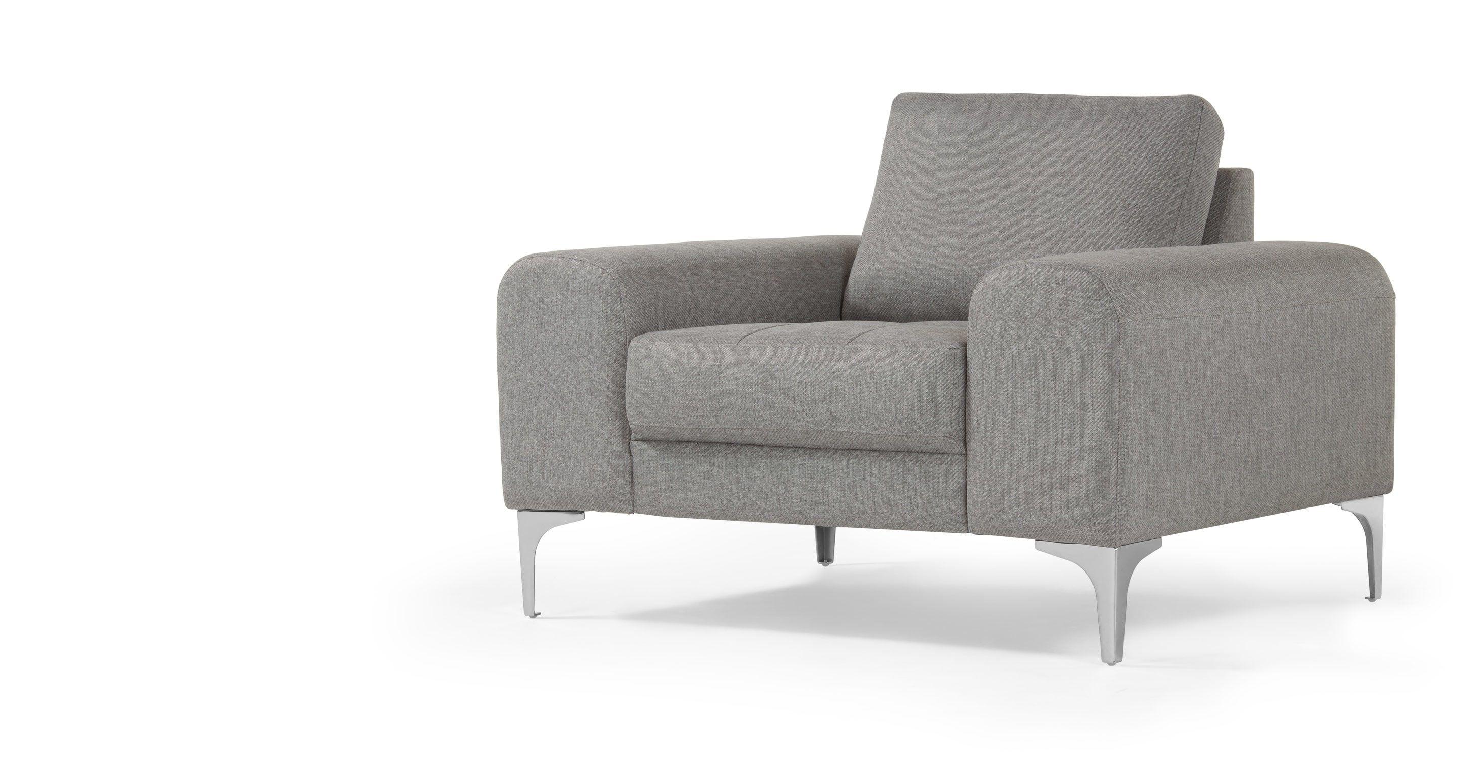 Vittorio Sessel Perlgrau Armlehnen Sessel Sessel Design