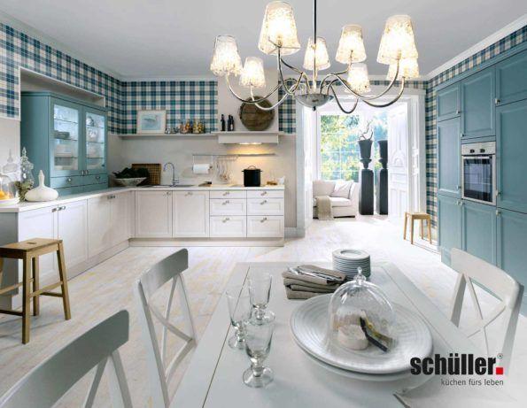 Tolle Schüller Cambia Landhausküche in weißem Lack Landhausküchen