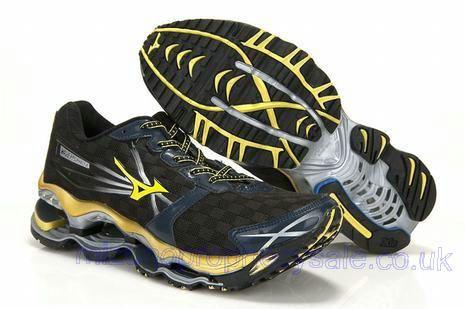 low priced b1505 d46c7 Mizuno Wave Prophecy 2 Mens 8KN 31645 Black Yellow Jordans Sneakers, Air  Jordans, Waves