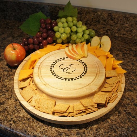 Personalized Serving Tray Cutting Board & Cheese Cutlery Set with ...