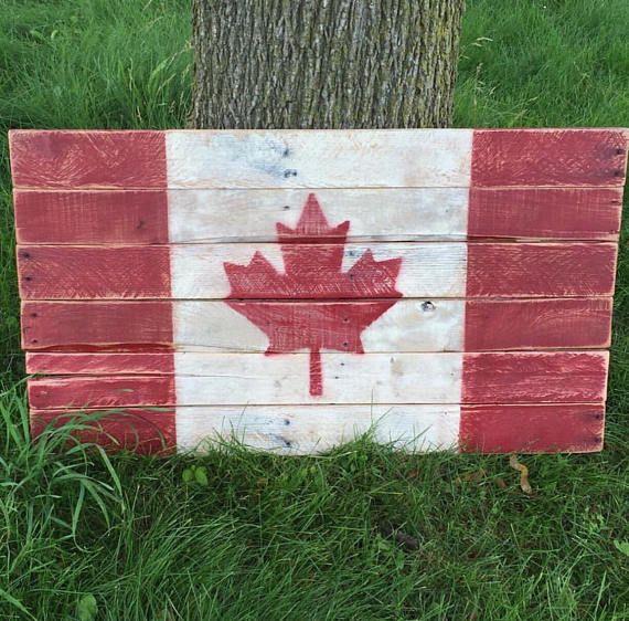 Canadian Flag - Canada Flag - Pallet Art - Rustic Flag ...