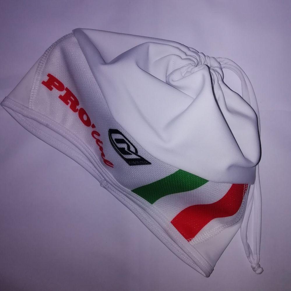 CAPPELLINO INVERNALE FASCIACOLLO CICLISMO BIANCO FASCIA BIANCA ITA CYCLING  CAP  e029a2833906