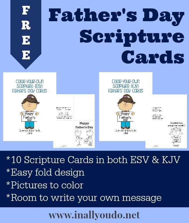Father S Day Scripture Cards Free Printable Father S Day Scripture Scripture Cards Father S Day Celebration