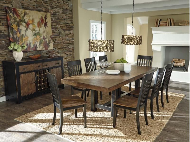 Emerfield   Two Tone Brown 5 Piece Dining Room Set D563D1 By Ashley  Furniture In