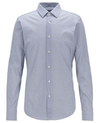 ebe55e083 Boss Men's Isko Slim-Fit Cotton Shirt - Blue 15.5 in 2019   Products ...