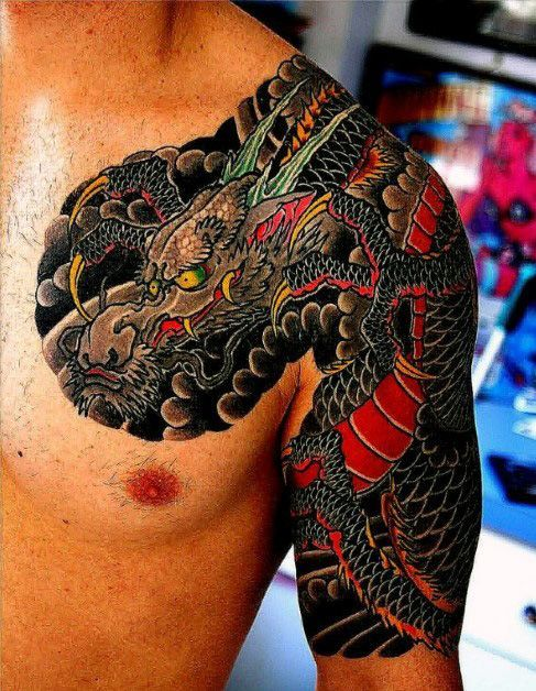 japanese tattoos Traditional dragon