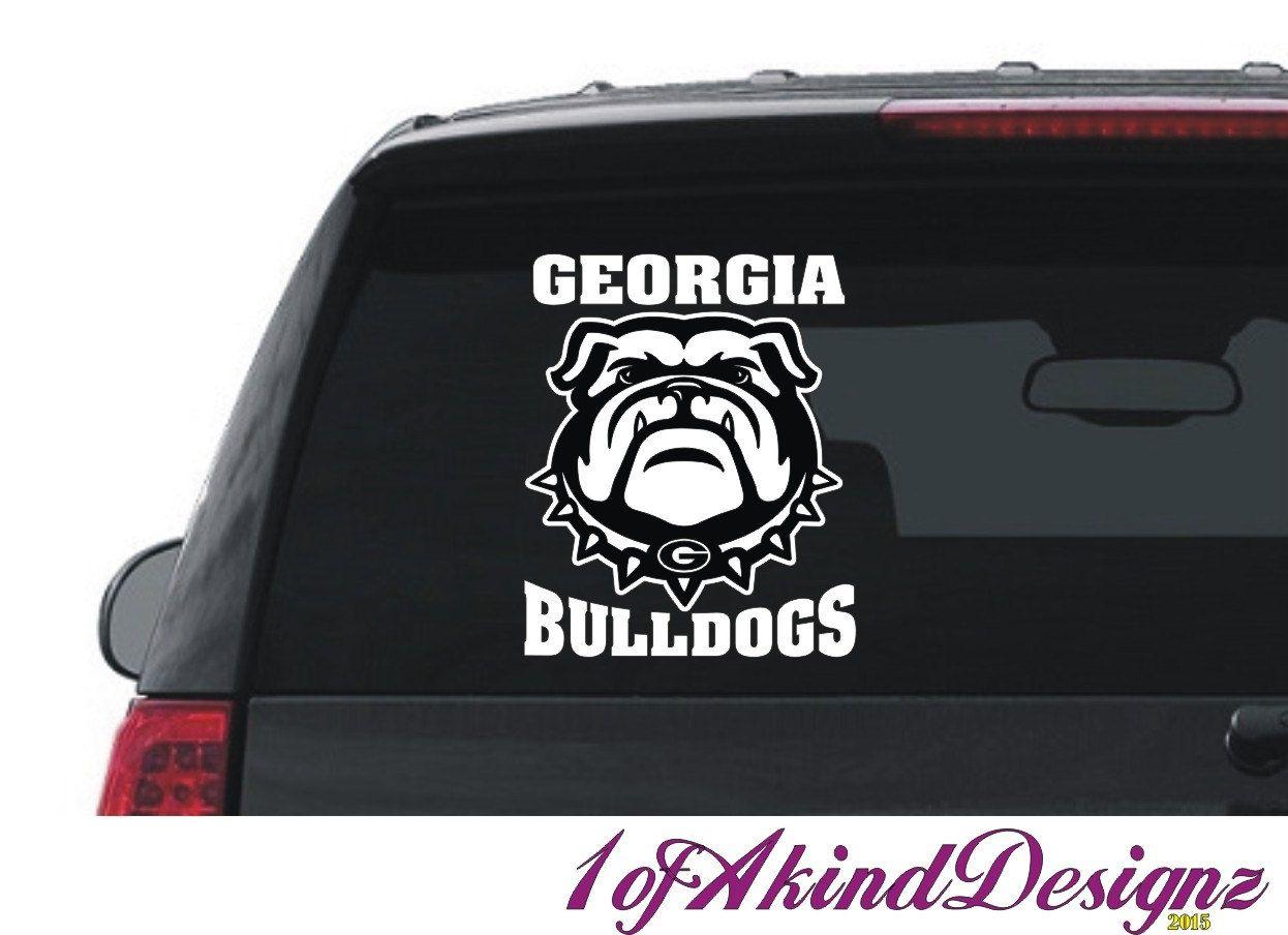 Georgia Bulldog Decal Sticker Hip Hop Vinyl Car Truck Laptop Window Georgia Bulldogs Cars Trucks Bulldog [ 904 x 1246 Pixel ]