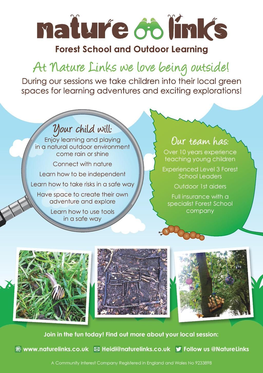 Nature Links On Outdoor Learning Kids Health Forest School