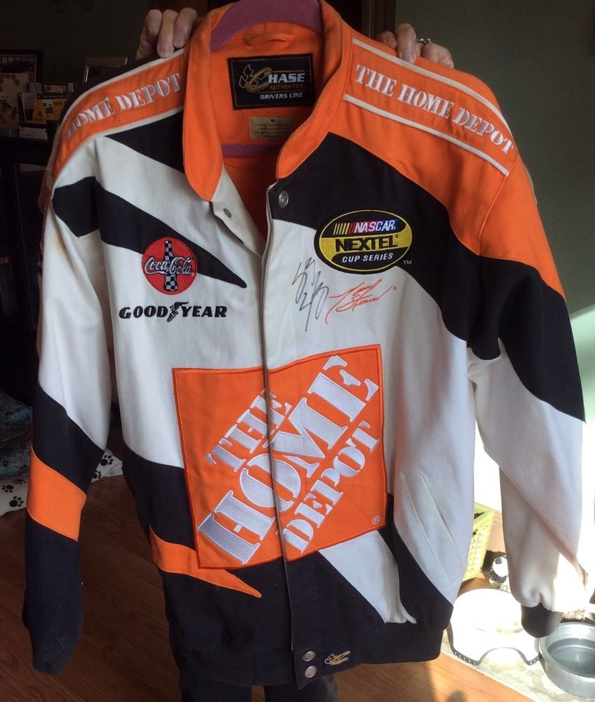 a1b63f0c Mens Tony Stewart Nascar Chase Authenthics Home Depot Racing Jacket Med  signed!! #Chase #TonyStewart