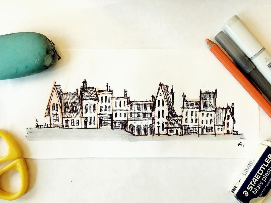 Little Town  #visualdevelopment #sketch #ballpointpen #artistsoninstagram