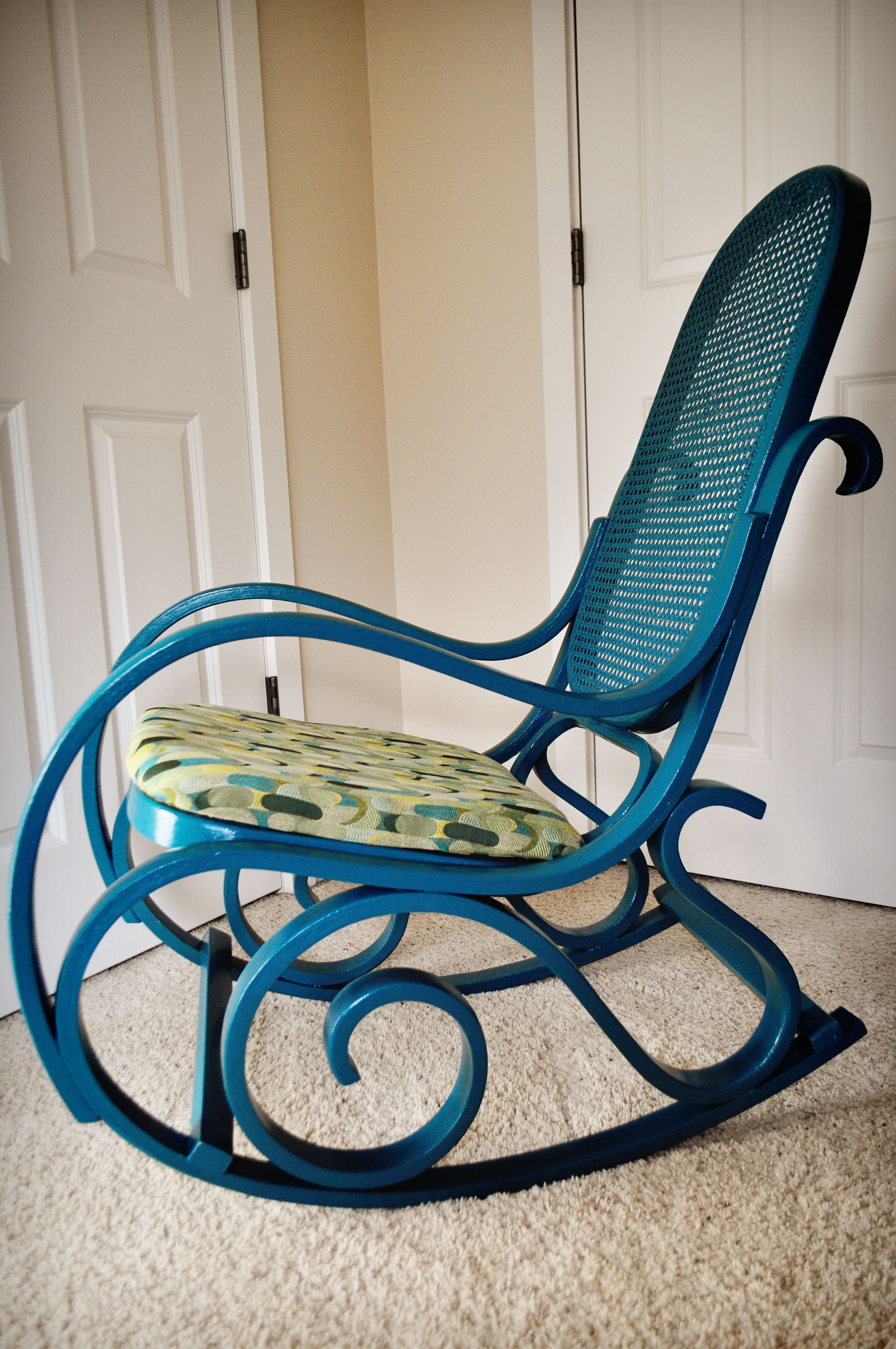 Completed…Wood & Rattan Rocking Chair Rattan rocking