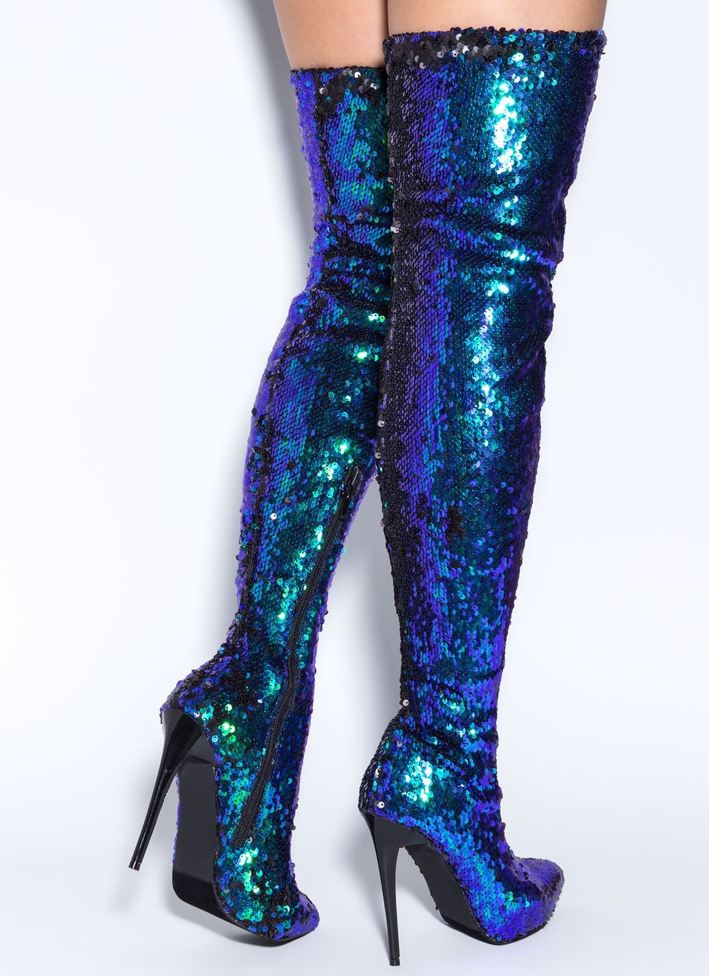 sequins of events thigh high boots gojane boots