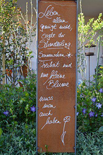 Edelrost Tafel König Spruch Garten Metall Tafel Rost Schild Text