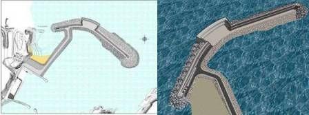 Implantación de la Central de Oleaje. Ingenieros de Caminos Pais Vasco