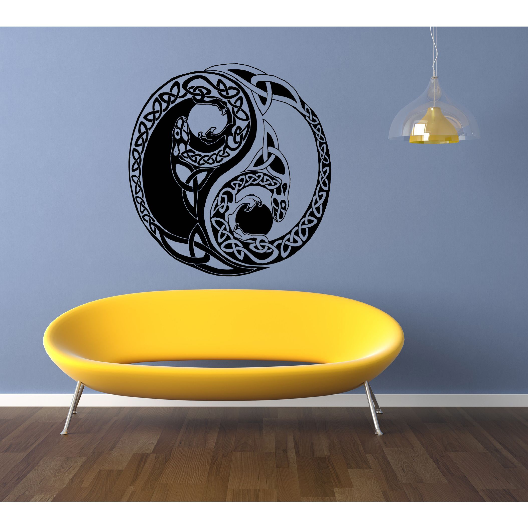 Celtic knot stylized graphical representations The Dragon Wall Art ...