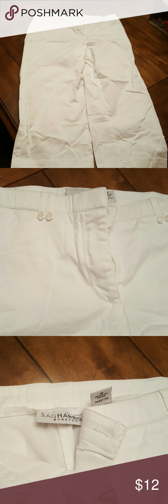 SIZE 12 SAG HARBOR STRETCH CAPRIS EUC SIZE 12 SAG HARBOR STRETCH CAPRIS Sag Harbor Pants Capris