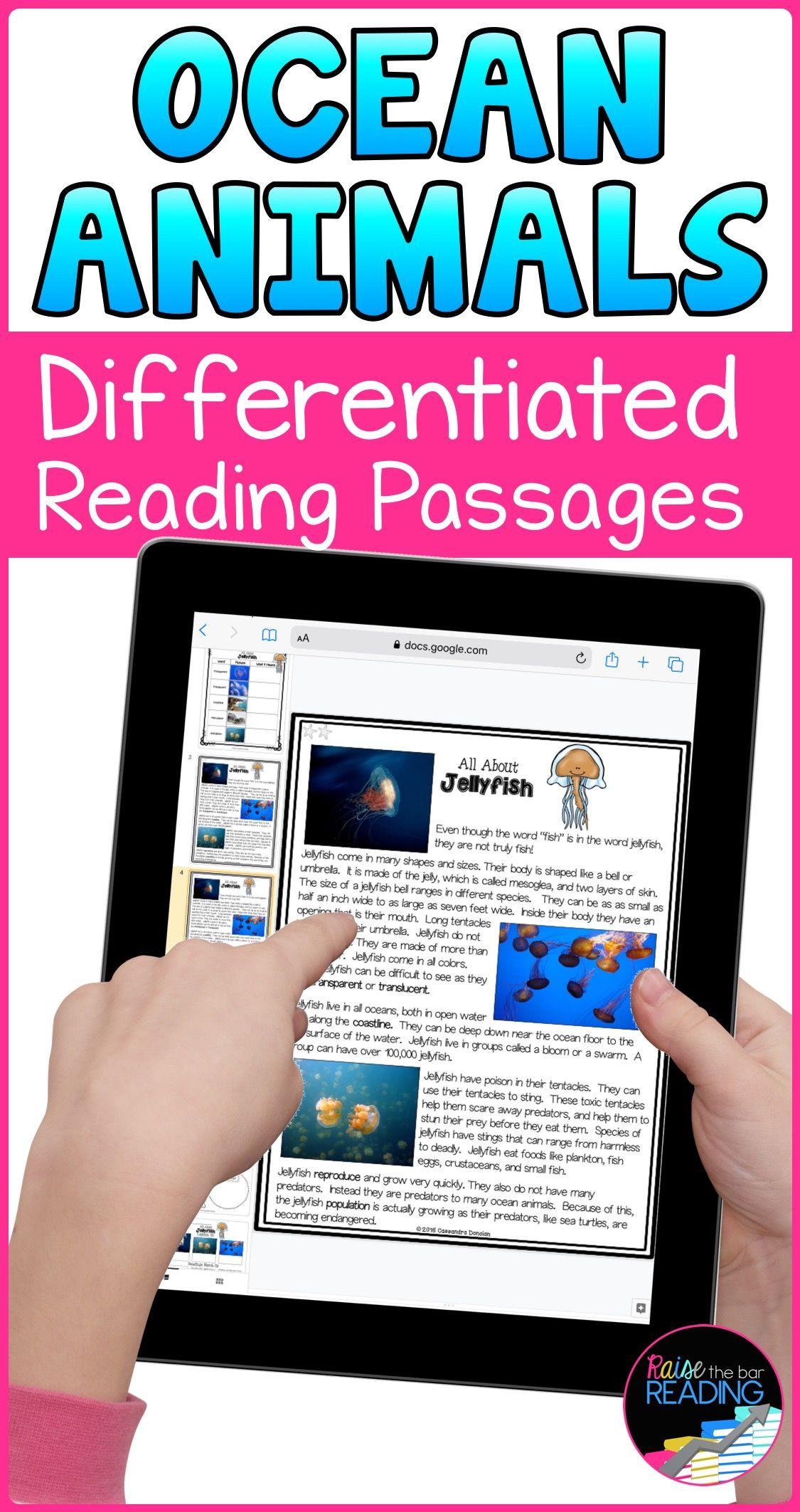 Ocean Animals Unit Bundle Paper And Digital Reading