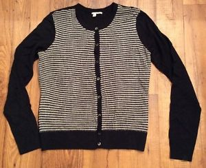 Halogen Women Sweater 100 Merino Wool Sz Medium Black and White | eBay