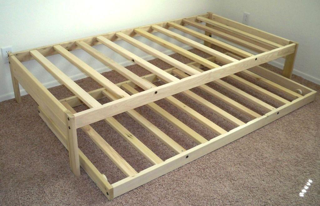 Doppel Bett Gestell mit Ausziehbaren Holz -   KinderzimmerDeko ...