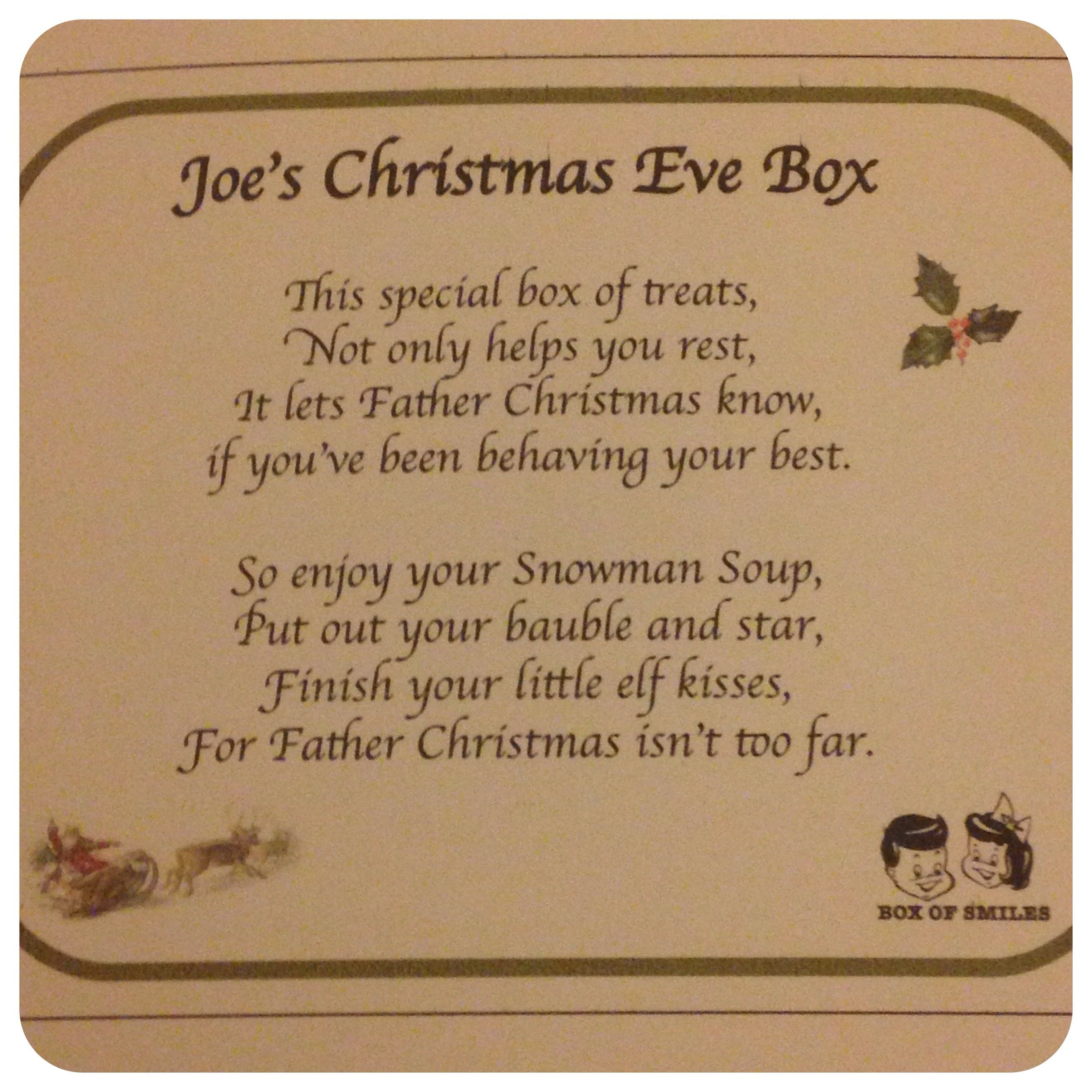 christmas eve box poem - Google Search | chrismas eve box ideas ...