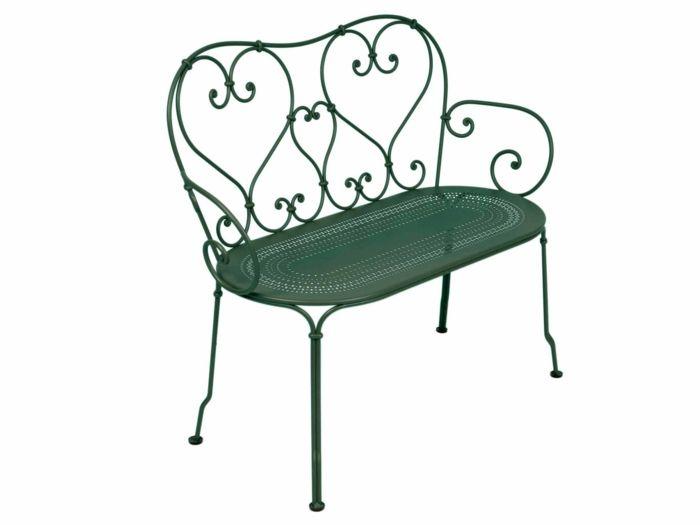 banc de jardin en acier 2 places qvec une assise perforée ...