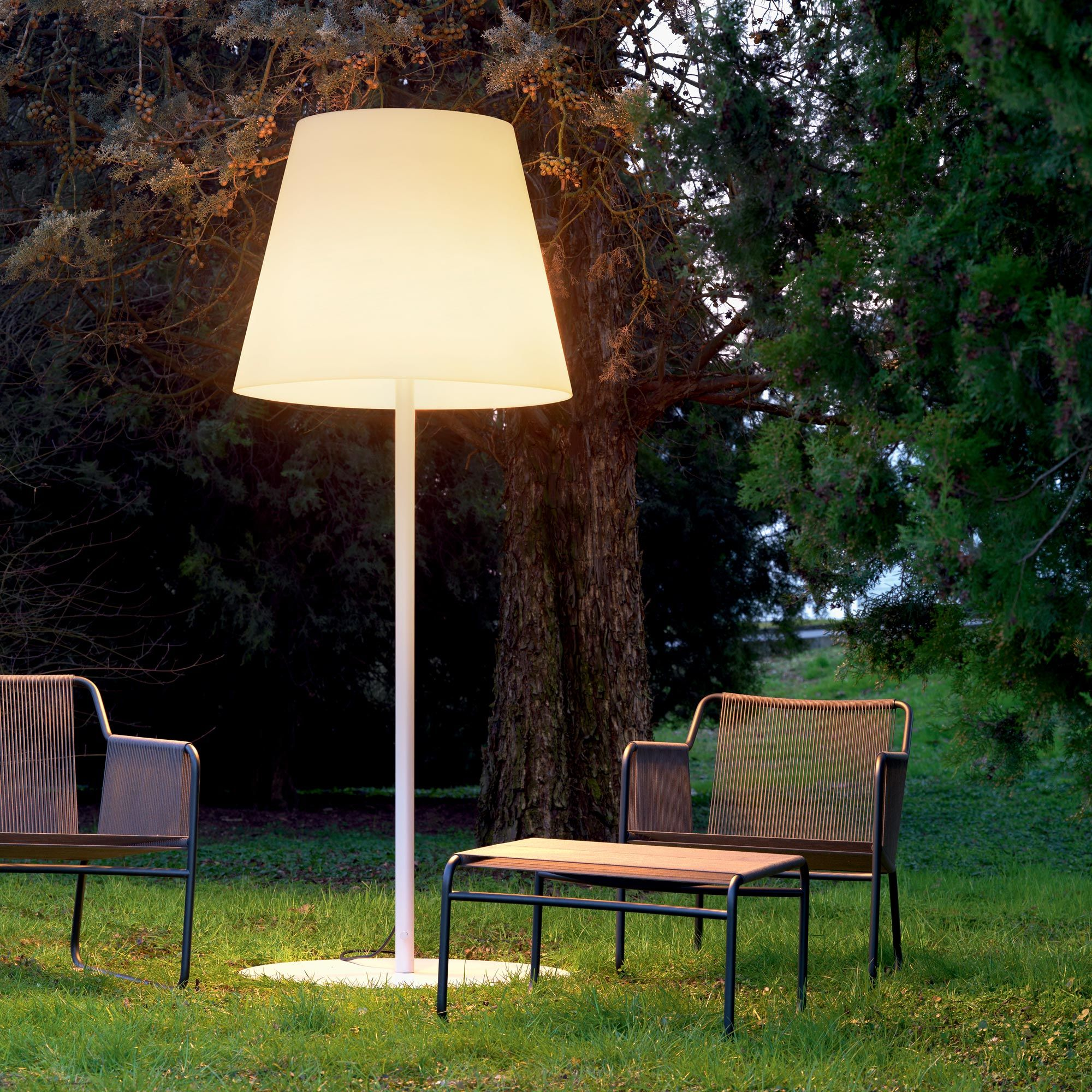 Outdoor Lamps Big Outdoor Lamp With A Translucent White Polyethylene Diffuser