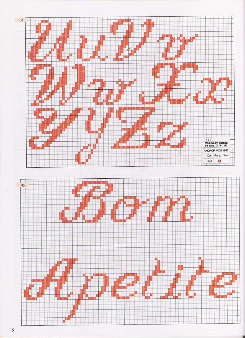 Meus Pontinhos (Ponto cruz e Gráficos): Gráficos de Letras/Alfabeto ...