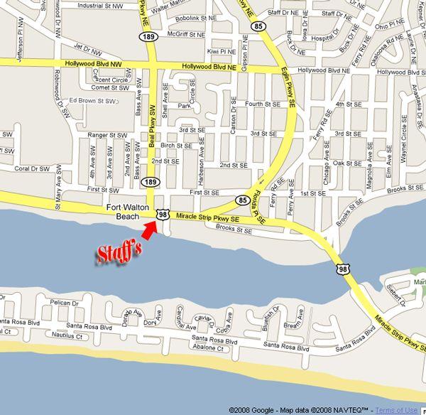 Map Of Fort Walton Beach Florida.Staff S Restaurant Fort Walton Beach Fl Hands Down Best Seafood