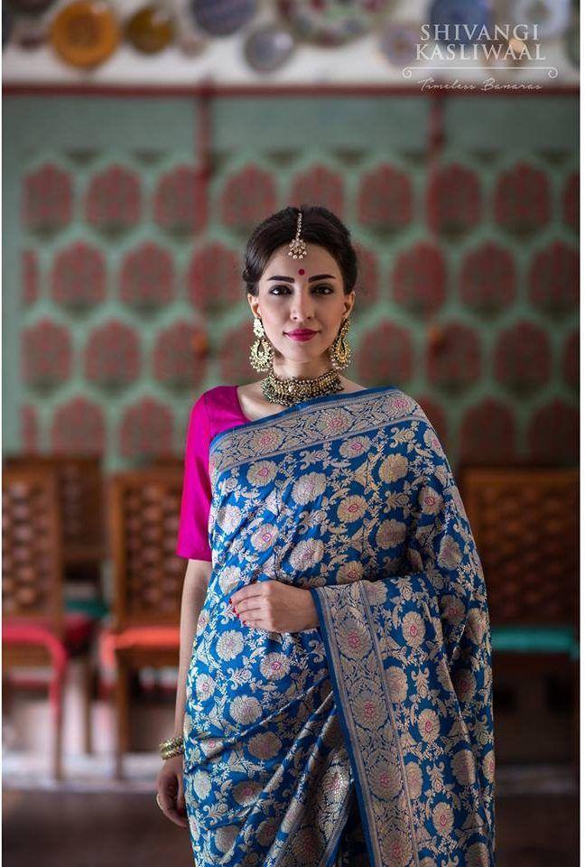 Photo of New Wedding Banarasi Silk Sarees Collection by Shivangi Kasliwaal