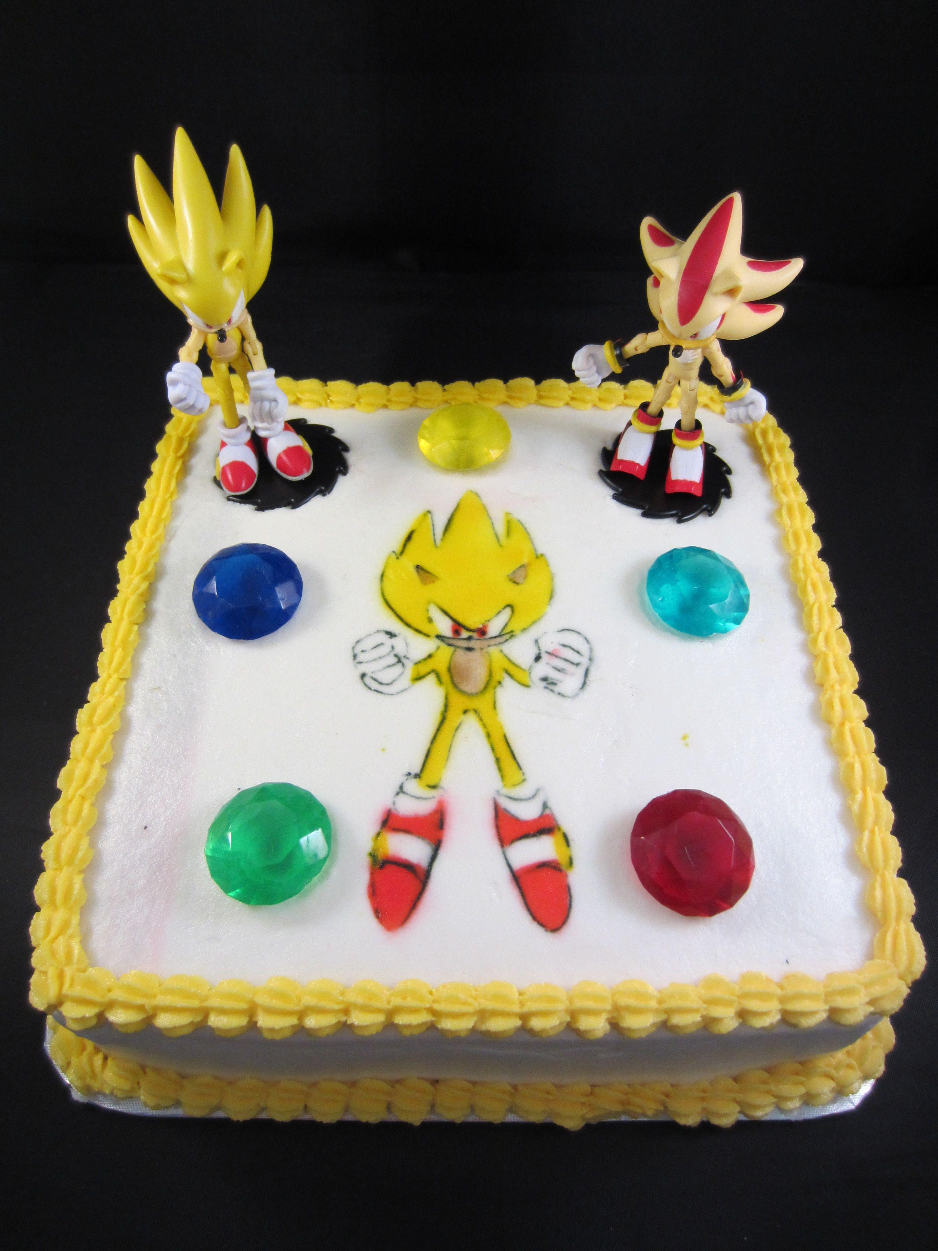 Super Sonic Theme Cake Airbrushed Sonic Jsweetstreatsvpweb Or