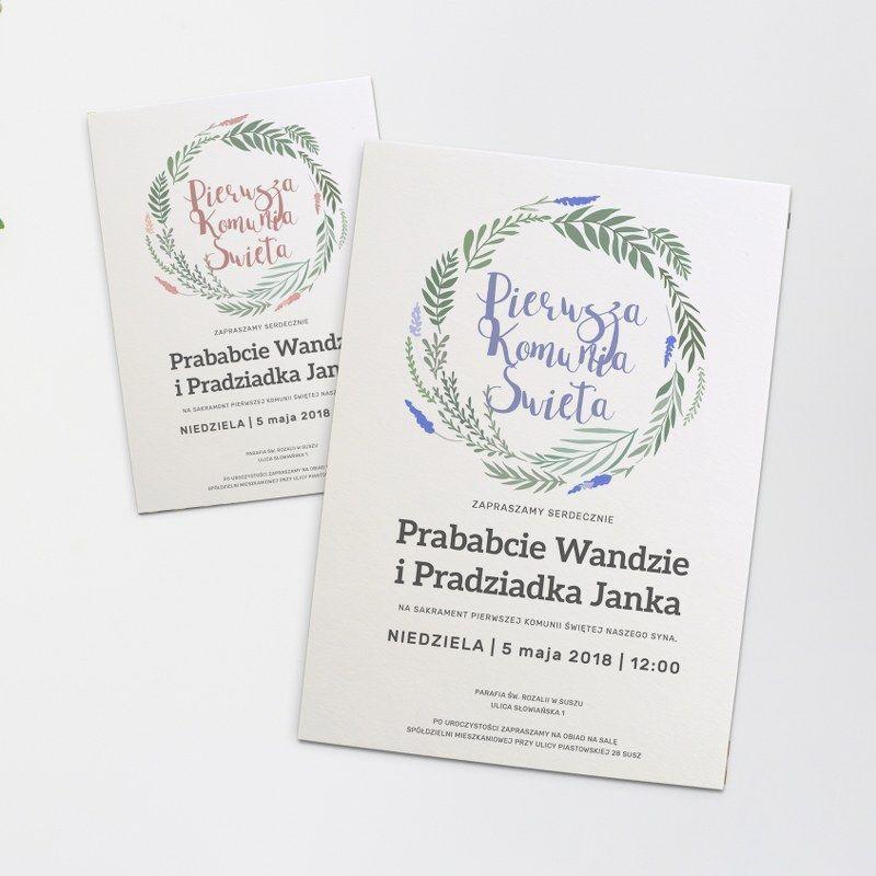 Zaproszenia Na Pierwsza Komunie Swieta Place Card Holders Place Cards Cards