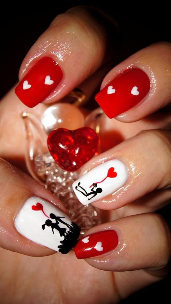 Wzorki Na Paznokcie Walentynkowe Szukaj W Google Nails